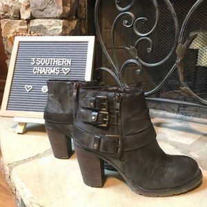 Altar'd State Brown Buckle Boots Booties 7 1/2